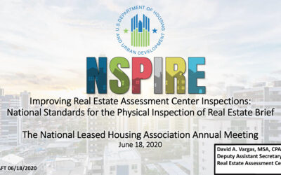 HUD Plans To Return To REAC/NSPIRE Inspections In 2020